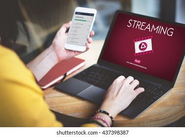 Streaming Audio Video Listening Multimedia Concept