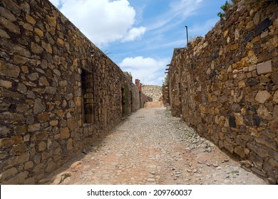 street in the abandoned silver mining town Real de Catorce