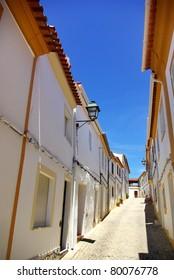 Street of Alegrete village, Portugal.