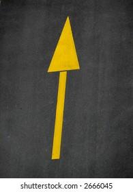 street arrow sign