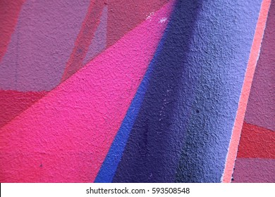 Street art. Colorful graffiti on the wall. Fragment for background. Detail of a graffiti
