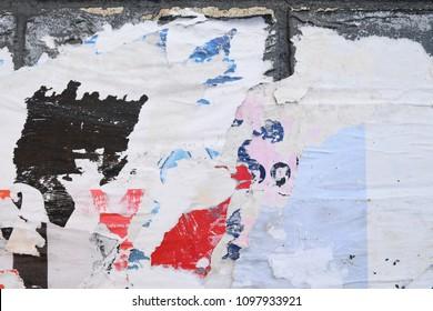 Street art, torn poster