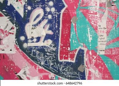 Street art wall close up