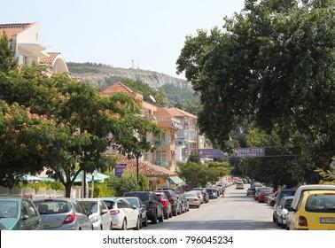 Street of Balchik (Bulgaria). Travel 26 July 2013