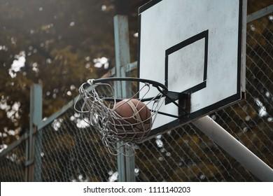 street balketball hoop
