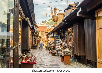 Street bazaar in Sarajevo, Bosnia and Herzegovina