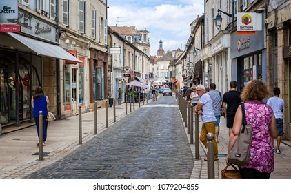 Street in Beaune  taken in Rue d'Alsace, Beaune, Burgundy, France on 24 June 2017