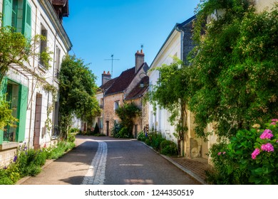 Street in the Beautiful Village of Chedigny in the Loire Valley, France