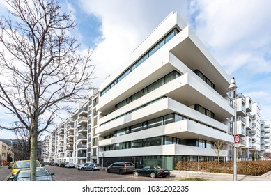 street in Berlin with modern architecture