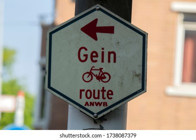 Street Bicycle Sing Gein Route At Amsterdam The Netherlands 19 May 2020