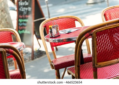 Street cafe. Cozy outdoor cafe in Paris, France