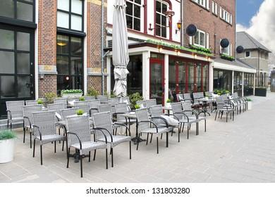 Street cafe in Den Bosch. Netherlands