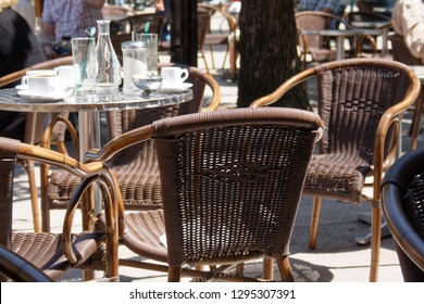 Street cafes in Corsican town