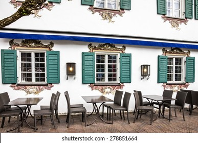 Street cafeteria in Oberammergau, Germany