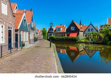Street and Canal in Volendam Netherlands