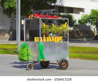 street car selling corn curau - typical and popular street food - Brazil