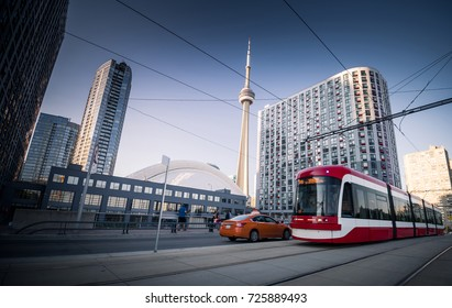 Street Cars during in Toronto city, Canada
