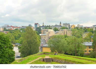 Street in the center of Lappeenranta, Finland. Lappeenranta - administrative, economic and cultural center of the province of South Karelia.