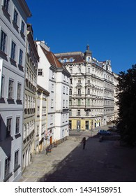 The street in the center of Vienna, Austria