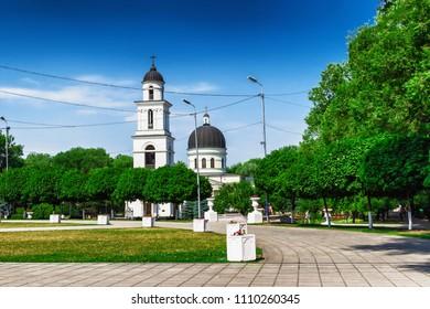 Street in Chisinau, Moldova