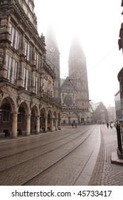 Street in the city. Bremen. Germany.