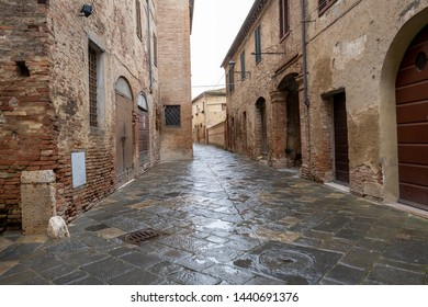 Street of the city Orvieto, Italy, Toscana.