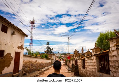 Street of the city of Quinua, a rural city in Ayacucho - Peru