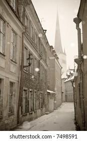 Street of city of Tallinn