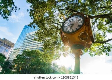 Street clock in Columbia South Carolina