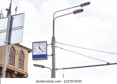 Street clock and lamp