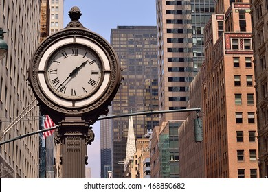 Street clock in New York City
