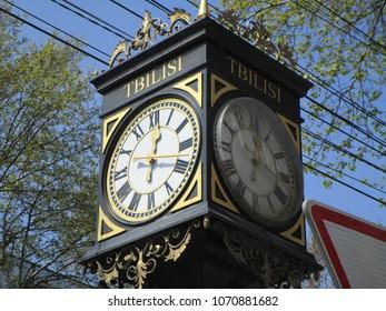 Street clock in Tbilisi, Georgia