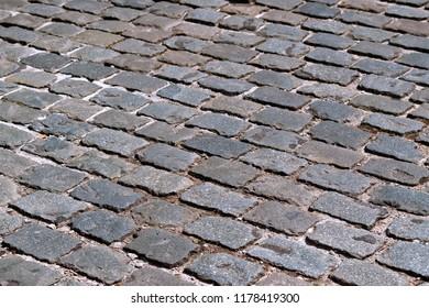 Street cobblestone pavement background