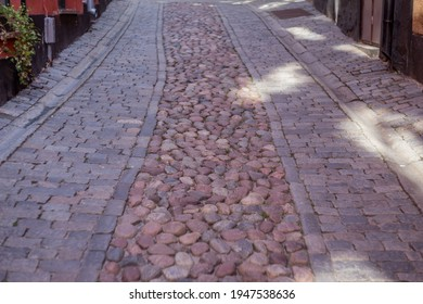 Street with cobblestones in oldtown