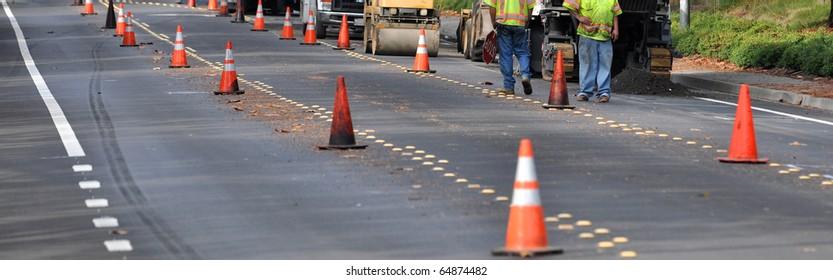 Street construction wide