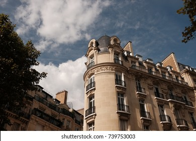 The street corner in Paris, France