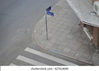 Street Corner in Porto Alegre, Brazil