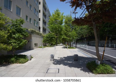 street from daikanyama to shibuya in tokyo, japan