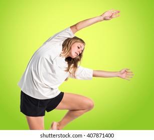 Street dance woman dancing classical dance