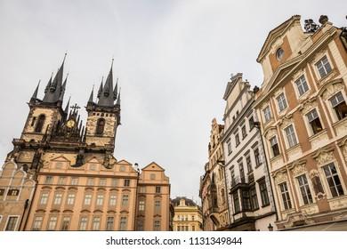 Street details of Prague old town