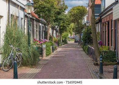 Street in the dutch town Zandvoort, Noordholland, Netherlands