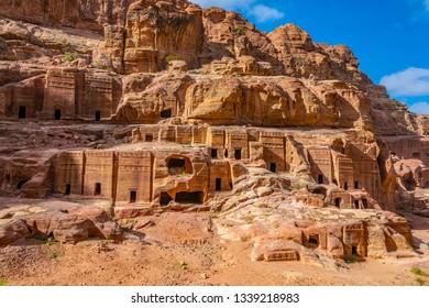 Street of facades in Petra, Jordan