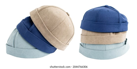 street fashion hat isolated on white back ground with paths