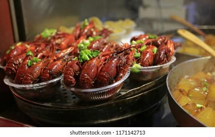 street food, crayfish grill