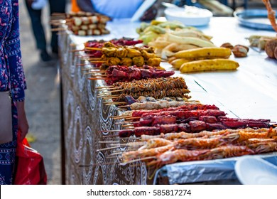 Street food Forodhani on the waterfront, Stone town, Zanzibar.