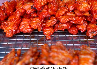 street food of grilled chicken