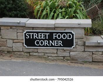 Street Food Sign