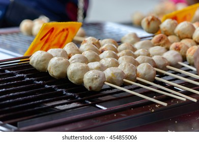Street food of Thailand - Grill meatball pork