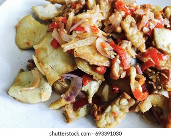 Street food / tofu and  tempeh is made from soybeans but it is a whole soybean product with different nutritional characteristics and textural qualities