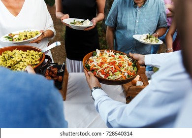 Street food at the wedding or another catered event dinner.